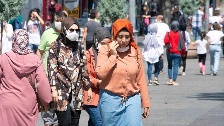 Konya'da sokaklarda maske ihlali