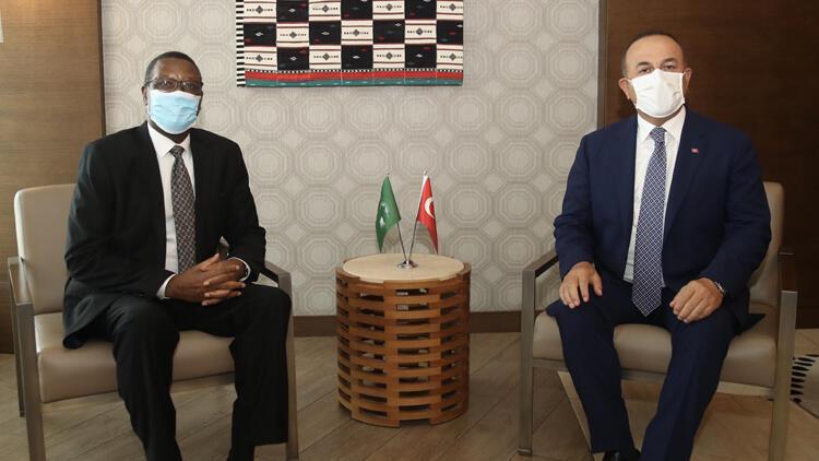 Dışişleri Bakanı Çavuşoğlu, Afrika Birliği Mali Yüksek Temsilcisi Buyoya'yla görüştü