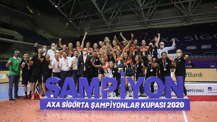 Kadınlar AXA Sigorta Şampiyonlar Kupası'nda zafer Eczacıbaşı VitrA'nın