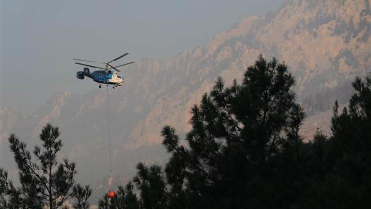 Adana'daki orman yangınına havadan müdahale yeniden başladı