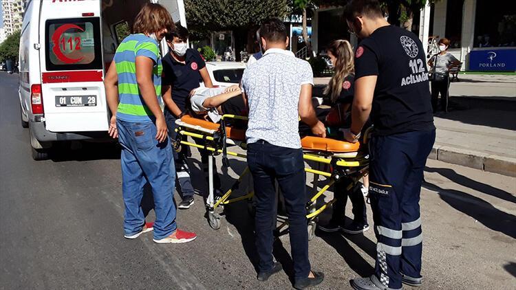 Adana'da elektrikli bisikletin çarptığı yaya yaralandı