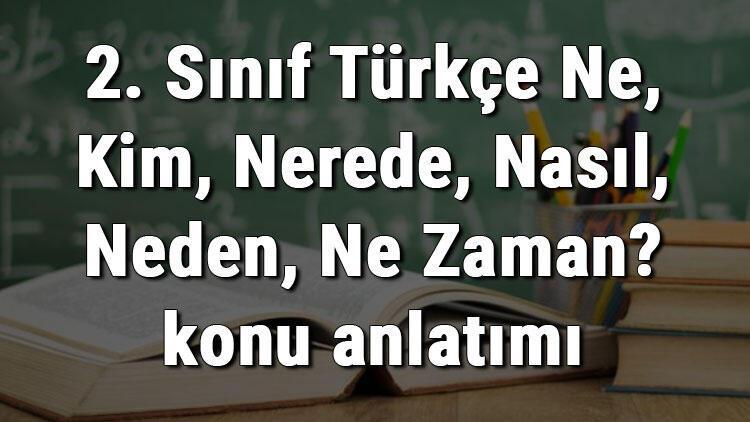 2. Sınıf Türkçe Ne, Kim, Nerede, Nasıl, Neden, Ne Zaman? konu anlatımı