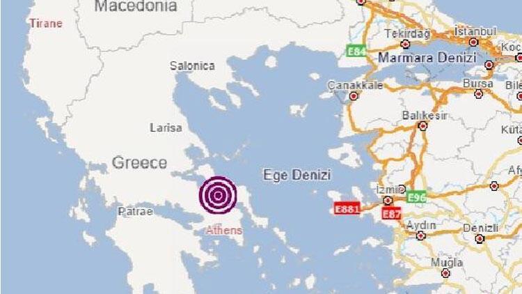 Yunanistan'da 4.1 büyüklüğünde deprem