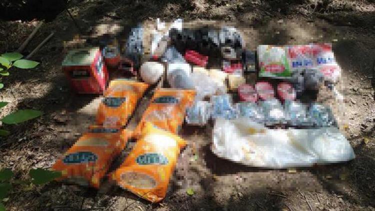 Amanoslar'da teröristlere ait yaşam malzemeleri bulundu