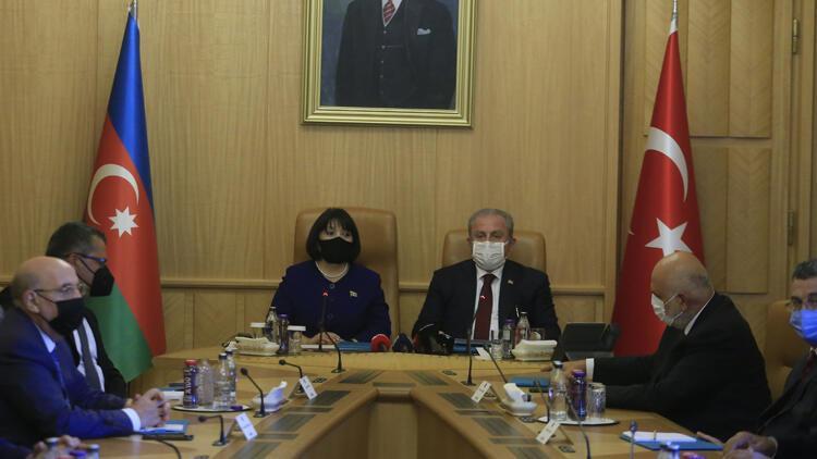 TBMM Başkanı Mustafa Şentop, Azerbaycan Milli Meclis Başkanı Gafarova ile görüştü