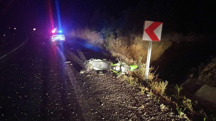 Manisa'da motosikletiyle kaza geçiren kişi yaşamını yitirdi