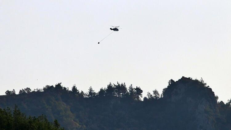 Osmaniye'deki orman yangınına havadan müdahale yeniden başladı