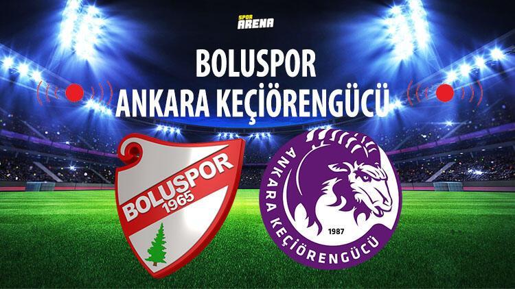Boluspor Ankara Keçiörengücü maçı ne zaman hangi kanalda saat kaçta? TFF 1. Lig'de haftanın programı