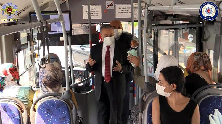 Mersin emniyetinden 'maske, mesafe, temizlik' uyarısı