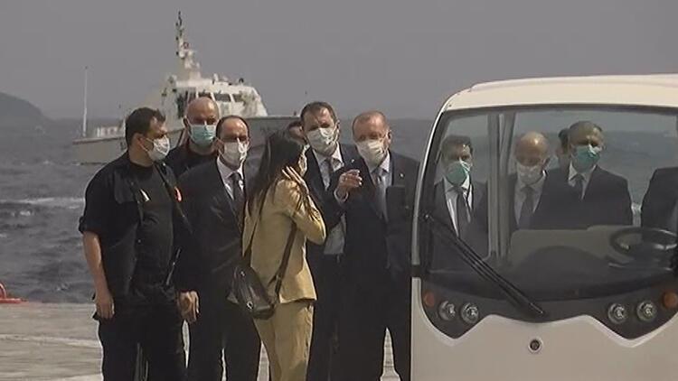 Son dakika haberler: Cumhurbaşkanı Erdoğan Demokrasi ve Özgürlükler Adası'na geldi
