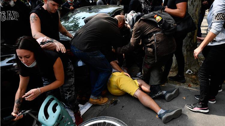 Fransa karıştı! Sarı yeleklilerin gösterilerinde olaylar çıktı