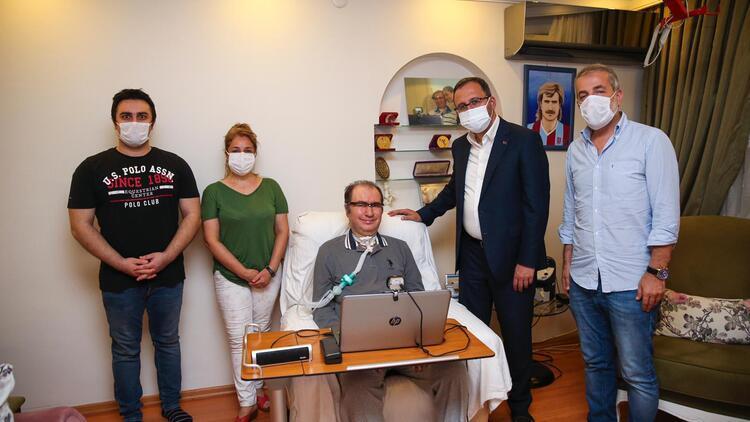 Bakan Kasapoğlu'ndan ALS hastası İsmail Gökçek'e ziyaret