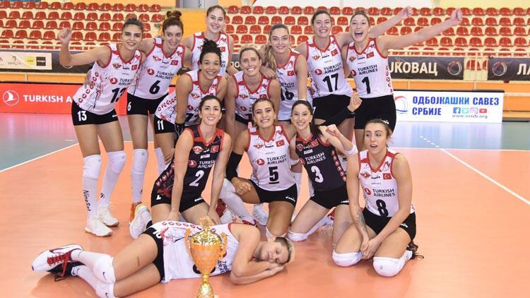 Türk Hava Yolları Kadın Voleybol Takımı, Balkan Kupası'nda şampiyon oldu!