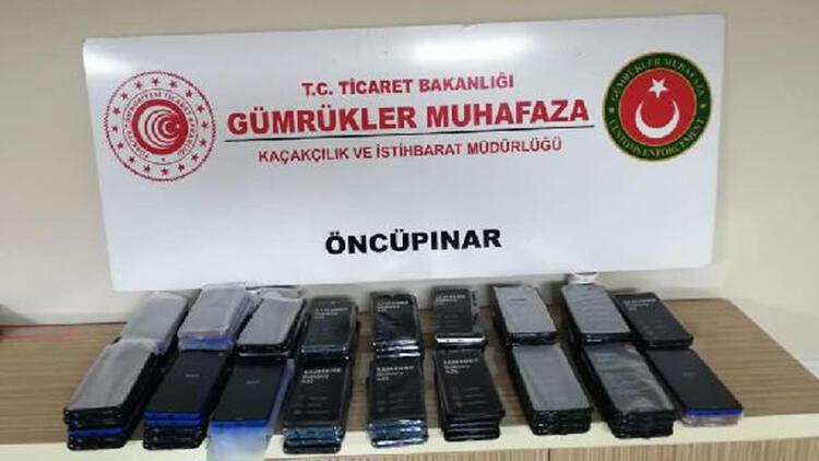 Kilis'te kaçak 118 cep telefonu ele geçirildi