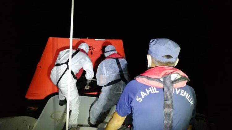 Muğla'da Türk kara sularına itilen yabancı uyruklu 9 kişi kurtarıldı