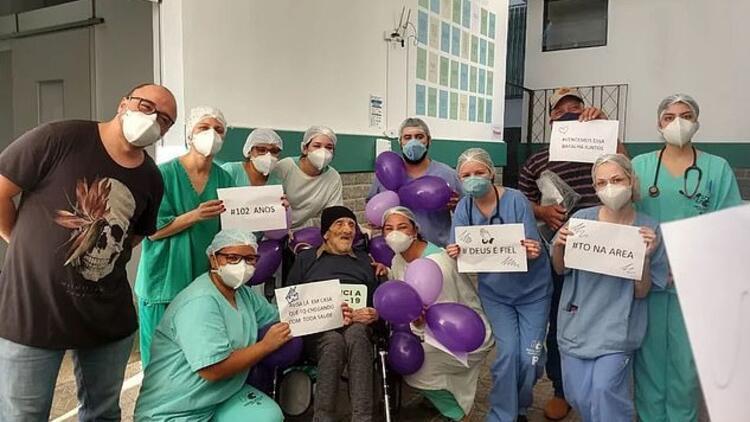 Brezilya'da 102 yaşındaki adam koronavirüse meydan okudu!