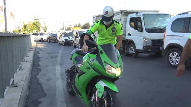 Avcılar'da abart egzozlu motosiklet denetimi