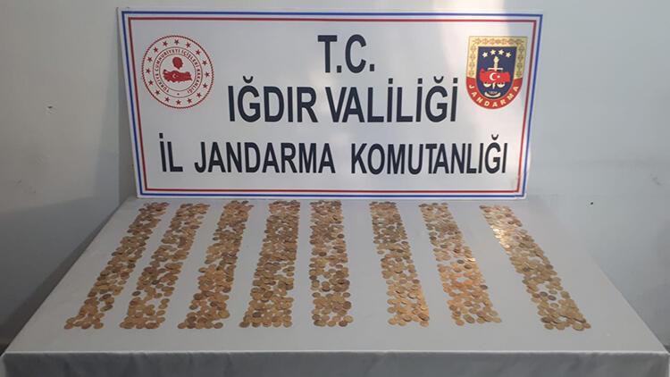 Iğdır'da 1005 adet tarihi sikke ele geçirildi