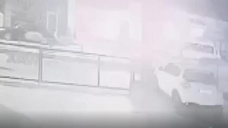 Lokantadaki patlama güvenlik kamerasında