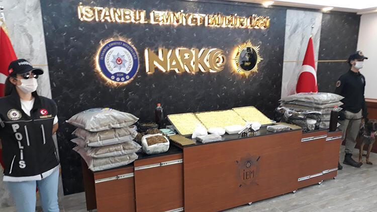 Fatih ve Gaziosmanpaşa'da kilolarca uyuşturucunun bulunduğu operasyonlar kamerada