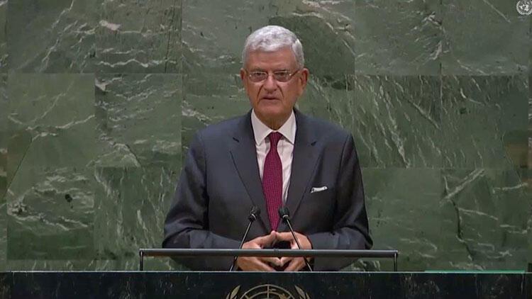 BM 75. Genel Kurul Başkanı Bozkır'dan Doğu Akdeniz mesajı