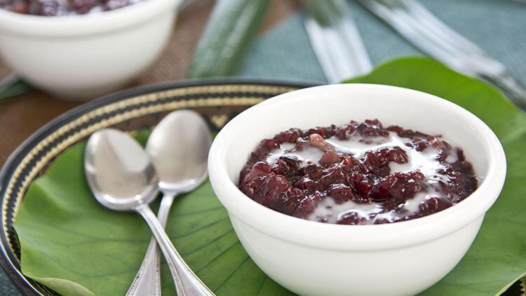 Siyah pirinçli badem tatlısı tarifi