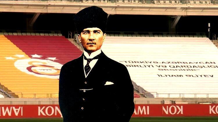 Son Dakika | Neftçi Bakü'den Galatasaray maçı öncesi anlamlı hareket! Atatürk pankartı...