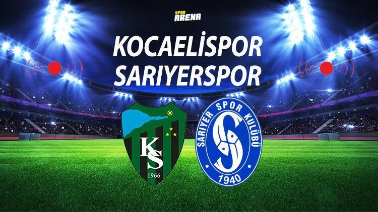 Kocaelispor Sarıyer maçı ne zaman saat kaçta hangi kanalda?