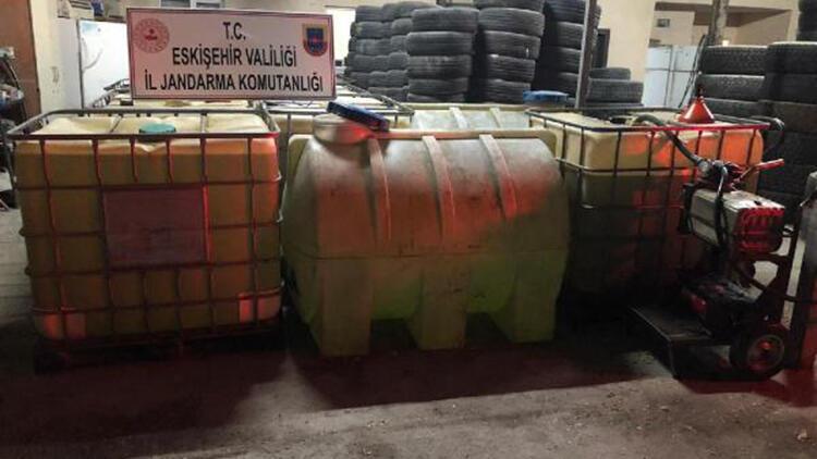 Eskişehir'de 10 bin 230 litre kaçak akaryakıt ele geçirildi