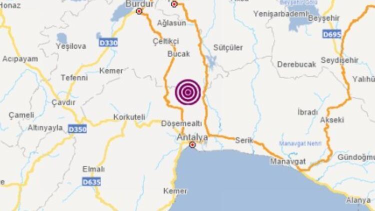 Son dakika deprem: Antalya'da 3.7 büyüklüğünde deprem