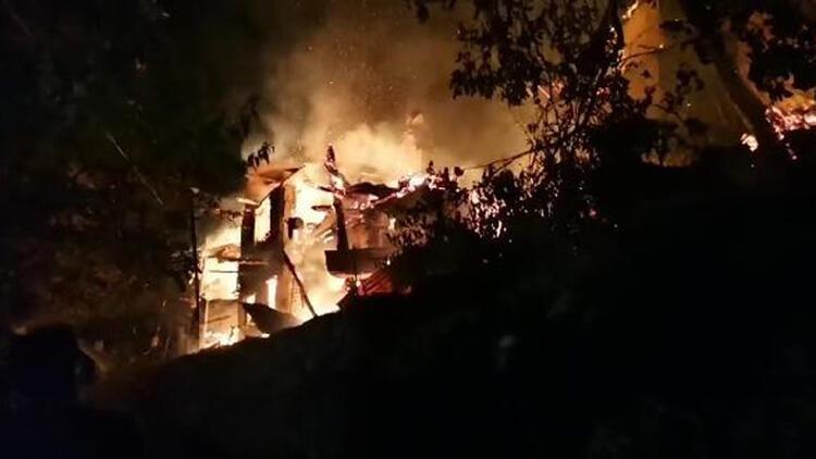 Artvin'de 4 ev yandı