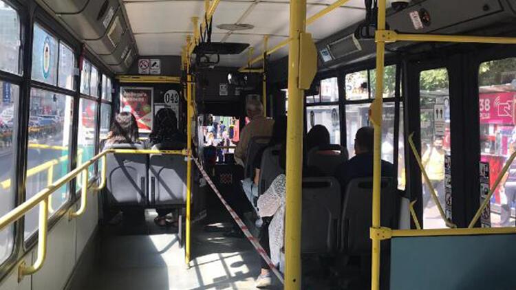 Kayseri'de otobüslerde ayakta yolculuğa karşı şeritli önlem