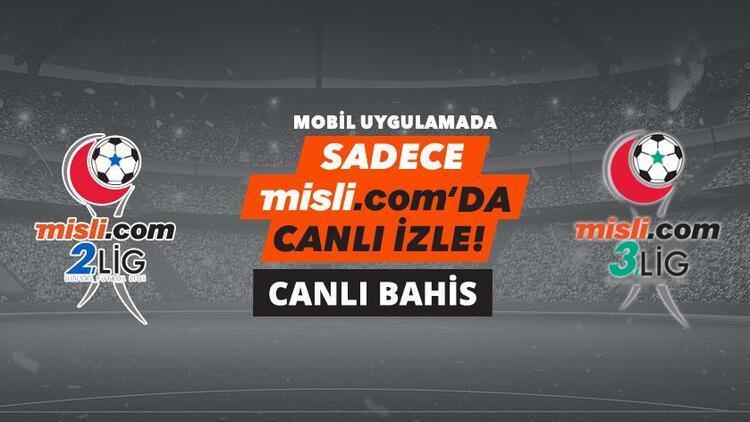 Misli.com 2. Lig ve 3. Lig maçlarını hem CANLI İZLE hem de CANLI İDDAA oyna