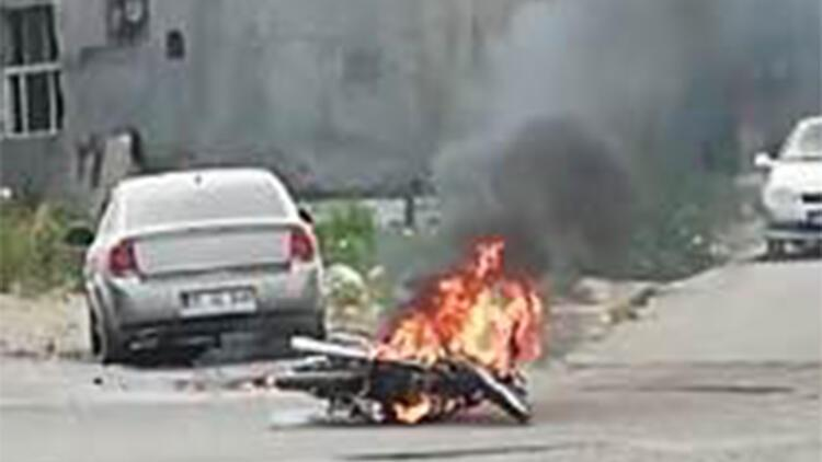 Cezayı öğrenince motosikletini yaktı