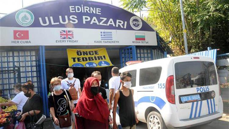 Edirne'ye gelen Bulgar turistlere, kendi dillerinde koronavirüs uyarısı