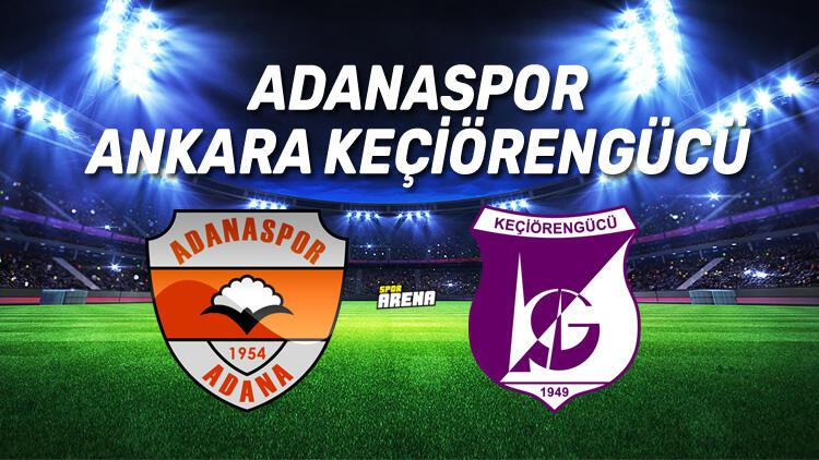 Adanaspor Ankara Keçiörengücü maçı ne zaman, saat kaçta, hangi kanalda?