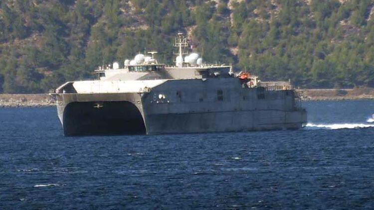 ABDnin hızlı transfer gemisi Çanakkale Boğazından geçti