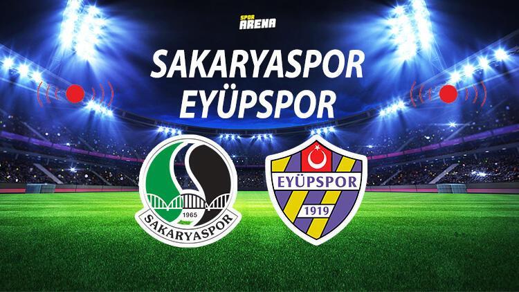 Canlı | Sakaryaspor Eyüpspor maçı