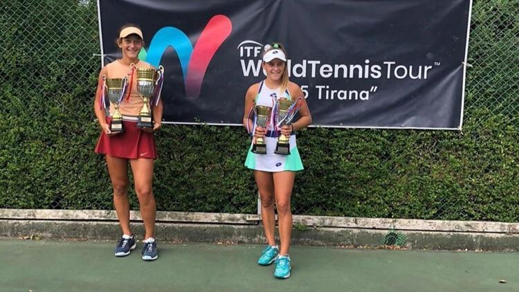 Genç tenisçilerden Arnavutlukta 2 şampiyonluk, 2 ikincilik