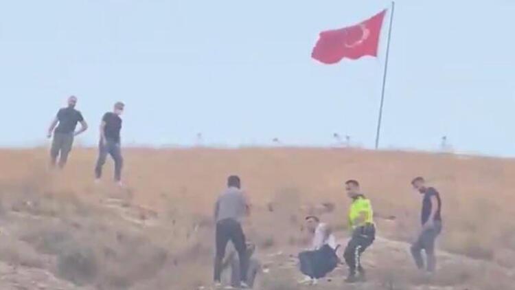 Son dakika haberler: Tepki çeken olay... Şanlıurfa'da Türk bayrağını indirmeye çalışan şahıs tutuklandı