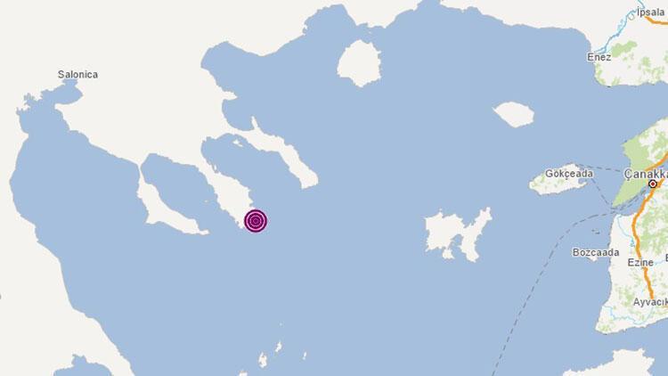 Son dakika depremler... Ege Denizi'nde 5.3 büyüklüğünde deprem
