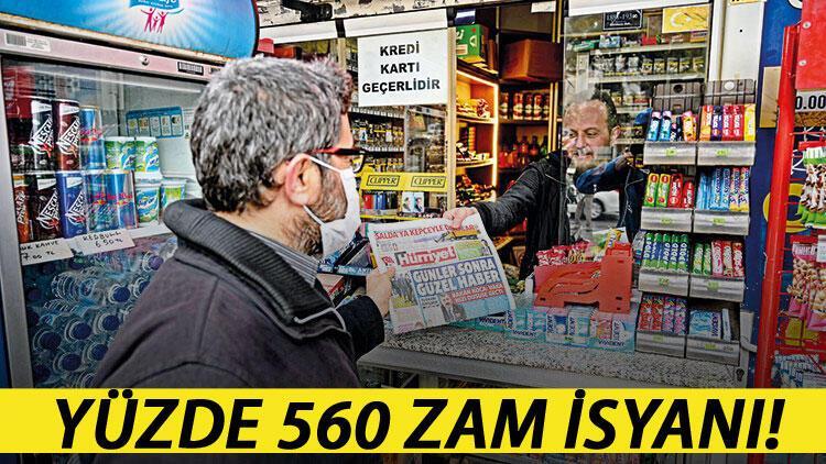 Gazete bayilerinin % 560 zam isyanı