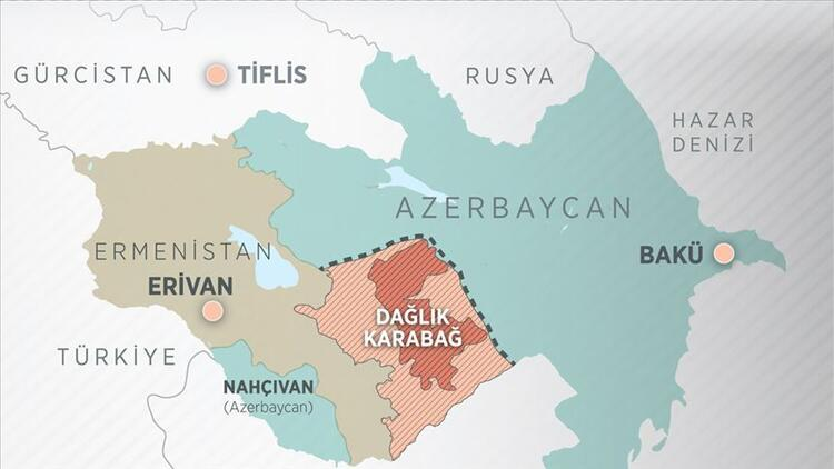 Dağlık Karabağ nerede Dağlık Karabağ haritası