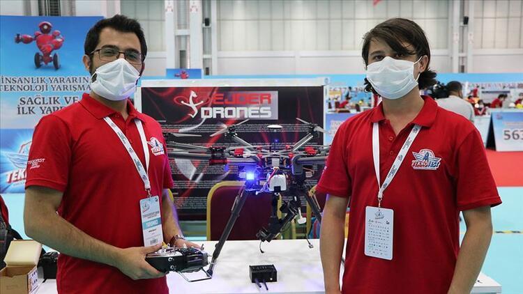 İki kardeşten mayını havadan belirleyip imha edecek drone