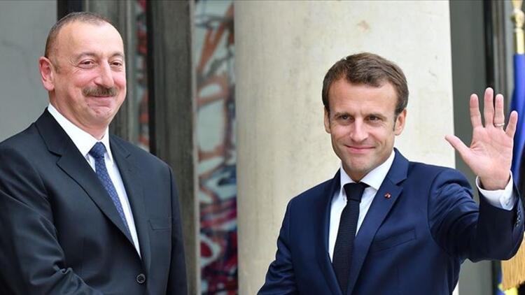 Son dakika: Aliyev ve Macron, Ermenistan-Azerbaycan cephe hattındaki çatışmaları görüştü