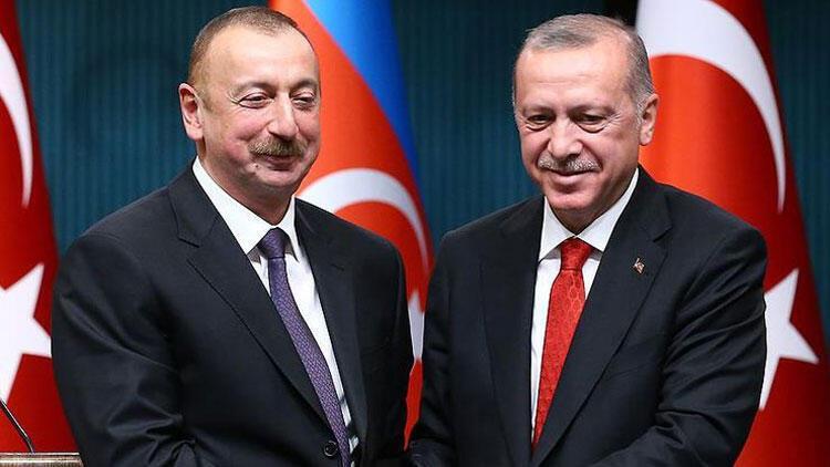 İlham Aliyev'den Cumhurbaşkanı Erdoğan'a teşekkür
