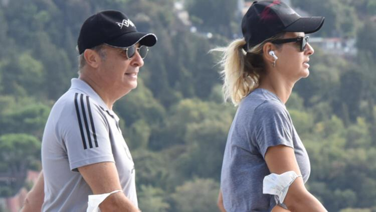 Fikret Orman ile sevgilisi Tuğba Coşkun her sabah sporda!