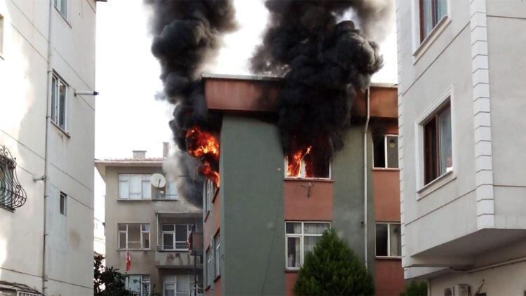 Kartal'da korkutan yangın! 'Çığlık seslerine uyandık'