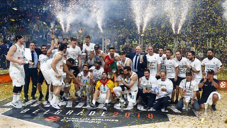 Real Madrid, 10 kezle Euroleague'in en fazla şampiyon olan takımı!