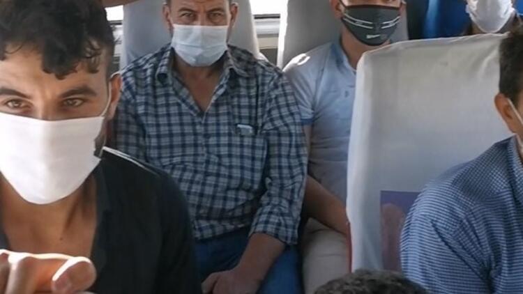 14 kişilik koltuğun bulunduğu minibüsten 22 kişi çıktı